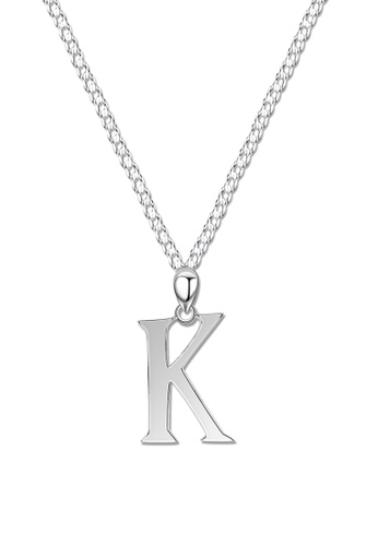 SC Tom Silver silver Letter Pendant with Chain SC872AC0J8D0PH_1