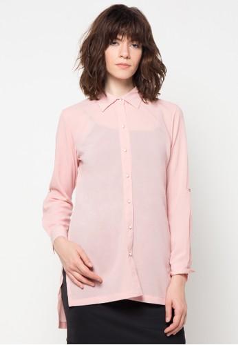 WHITEMODE pink Britney Shirt WH193AA00HCXID_1