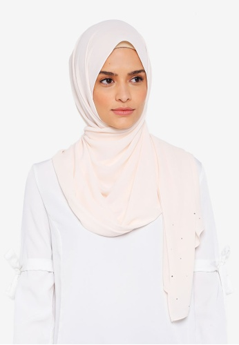 Lubna white Chiffon With Crystal Shawl 13B37AA67A2CA7GS_1