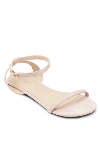Shelby 交叉踝帶基本款京站 esprit涼鞋, 女鞋, 鞋