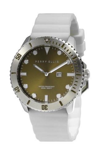 PERRY ELLIS white Perry Ellis Deep Diver Unisex 42mm Quartz Watch 06003-03 A5DDFACAF0C063GS_1