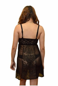 Miss Lovelace Catherine Lingerie (Black/Gold)