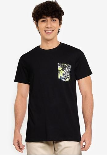 Jack & Jones black Pocket Detail Tee A4F1FAA51E7754GS_1
