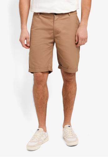 Flesh IMP beige Yager Side Pocket Shorts D8979AAB9AF34CGS_1