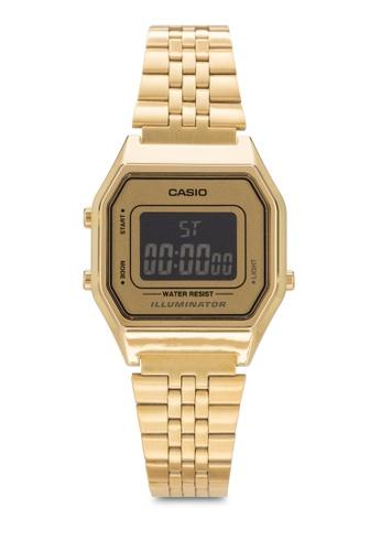 Casio 金色 Casio Women's Gold Stainless Steel Strap Watch LA680WGA-9BDF CA843AC32YQPMY_1
