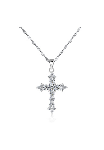 SUNRAIS silver Premium Silver S925 Silver Cross Necklace 89C2BAC80F4ACAGS_1