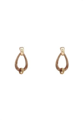 niko and ... brown Teardrop Dangle Earrings 14A4AAC60620DFGS_1