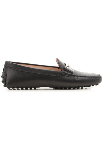 TOD'S black TOD'S DOUBLE T LOAFERS F4CAESH32B1AF8GS_1