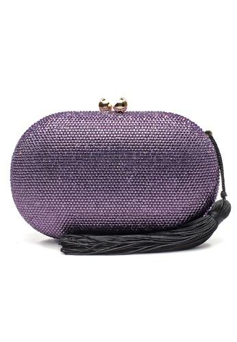The Chic Initiative purple Raphael Crystal Clutch (Lilac) 5B949AC76509F5GS_1