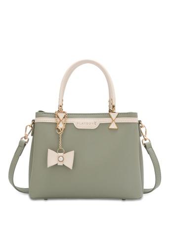 PLAYBOY BUNNY green Women's Hand Bag / Top Handle Bag / Shoulder Bag CF2AFAC5DBE54DGS_1
