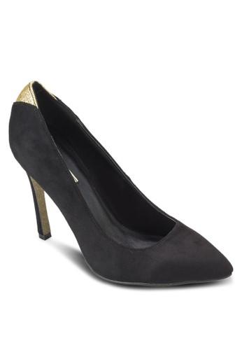 雙色尖頭高esprit outlet跟鞋, 女鞋, 厚底高跟鞋