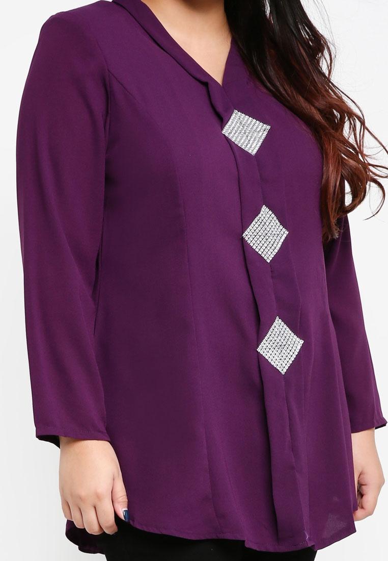 Size Top Kebaya BYN Plus Purple w0Z05pq