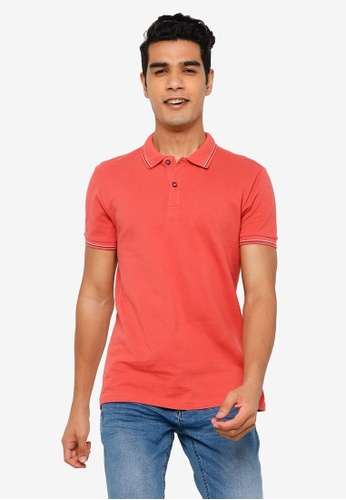 KOTON orange Classic Polo Shirt 64B58AAB5ECACFGS_1