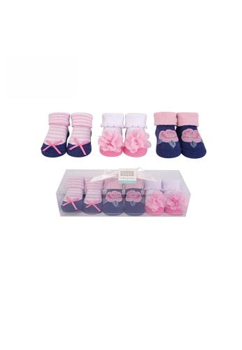 Little Kooma pink Hudson Baby Girl Newborn Baby 3 Pairs Socks Set 58296 EFC7DKAC3F9F10GS_1