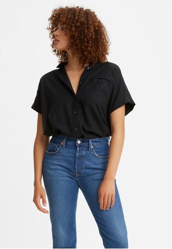 Levi's black Levi's® Women's Ariana Boxy Button-Up Shirt 29730-0003 C1218AAE2445E2GS_1