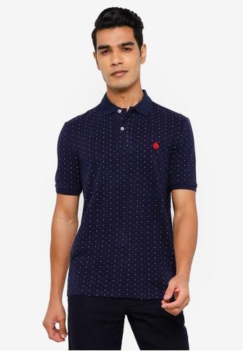 Springfield blue All Over Print Polo Shirt DE702AA9F90D74GS_1