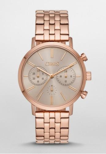 CHAPSesprit服飾 Whitney Chrono三眼計時腕錶 CHP3043, 錶類, 休閒型