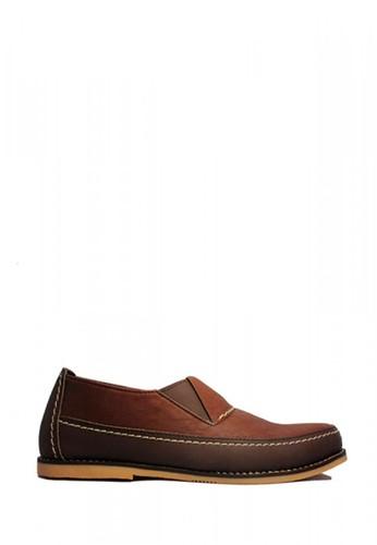 D-Island brown D-Island Shoes Slip On Moccasine Rajut Leather Brown F6DE2SH60907C1GS_1