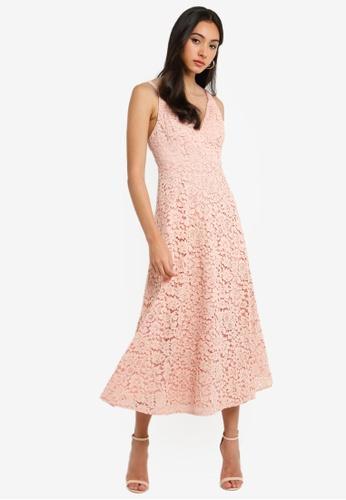Bardot pink Genoveve Lace Dress C8DD3AA093B5FAGS_1