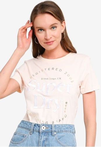 Superdry pink Established Tee FC4E9AAB6042F5GS_1