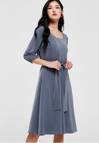 Love, Bonito blue Leandrew Puff Sleeve Midi Dress 541B0AA4323D1CGS_1