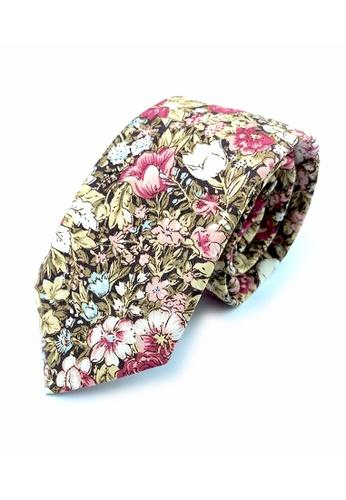 Caveman multi Warm Blossom Floral Necktie E760EAC70F91ACGS_1