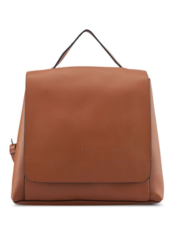 ELLE brown Adelaide Backpack 9D4A1AC1A4E6C9GS_1