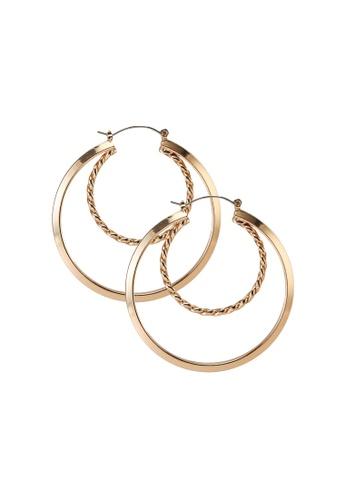 ALDO gold Adwaywiel Pierced Earrings D0B60ACFCD4EA7GS_1