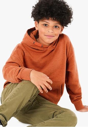 MARKS & SPENCER orange Cotton Rich Garment Dyed Hoodie 05F63KA0E22775GS_1