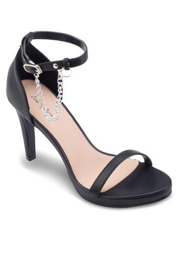 鍊esprit台北門市飾高跟涼鞋, 女鞋, 鞋