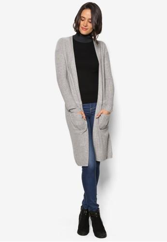 esprit taiwan羅紋長版外套, 服飾, 服飾