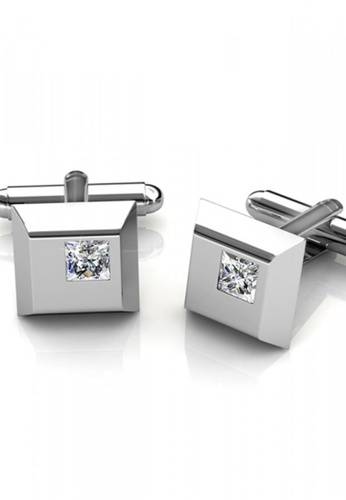 c755385730f7 Her Jewellery silver Cufflinks Square embellished with Crystals from  Swarovski HE581AC0RAEPMY 1