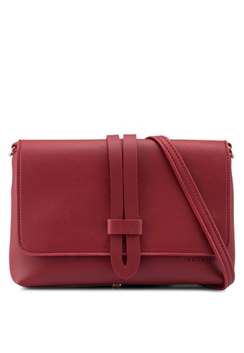 Verchini red Muse Casual Sling Bag CAA55AC672EB44GS_1