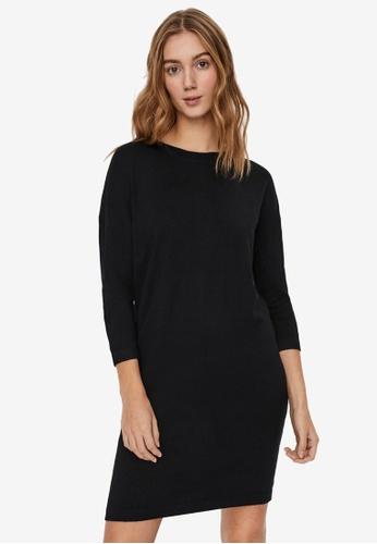 Vero Moda black 3/4 Sleeved Knitted Dress 36D78AACF31B1DGS_1