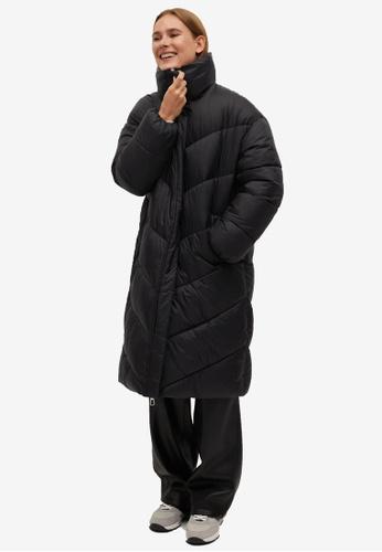 Mango black Oversize Quilted Coat 532DBAA34CFFA7GS_1