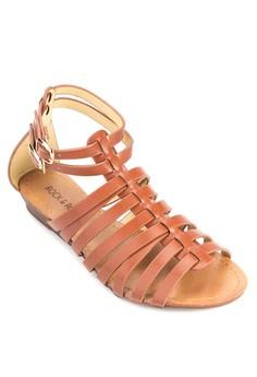 CAROLINE Gladiator Sandals [Camel]