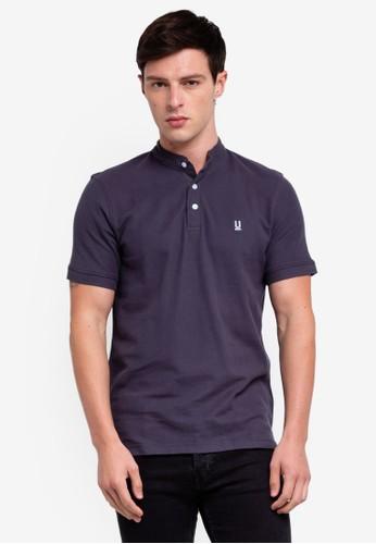 UniqTee grey Basic Pique Polo Shirt With Logo B3A15AA83D6361GS_1