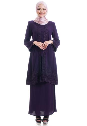 Ashura purple Adama Kebaya With Border Lace 622ECAA9623690GS_1