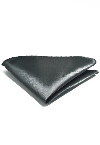 Splice Cufflinks Lustrous Series Dark Grey Polyester Pocket Square SP744AC93LASSG_1