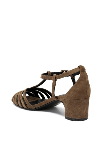 a282443b9639 Buy RABEANCO RABEANCO ESTELLA STRAPPY Mid-Heel Sandals - Grey Khaki ...
