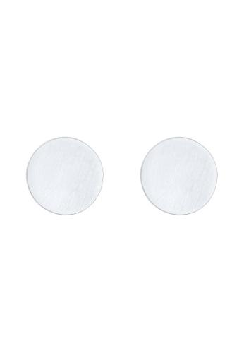 ELLI GERMANY silver Elli Germany Earrings Matte Circle Geo Basic 925 Sterling Silver 68A83AC5EED474GS_1