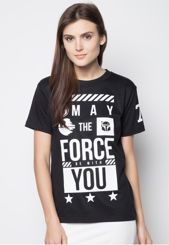 Typogratee black May The Force Be With You Tee TY930AA77TNMPH_1