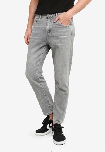 UniqTee grey Loose Straight Denim Jeans 80137AA9A81E81GS_1