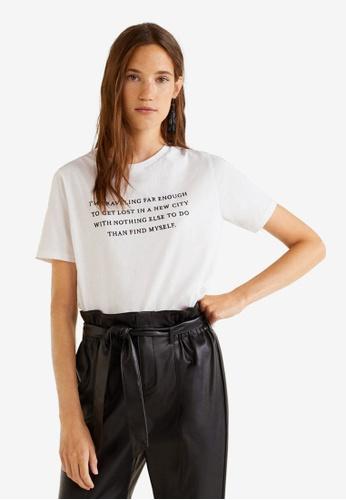 Mango white Organic Cotton Message T-Shirt 9BB0DAA24747B7GS_1