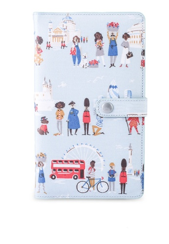 Cath Kidston blue London People Detachable Travel Wallet 15099ACC5249E4GS_1