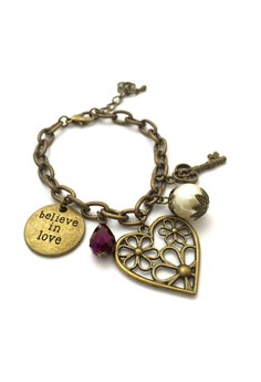 Believe in Love Charm Bracelet