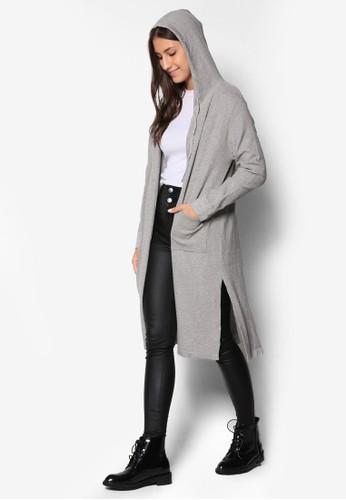 長版連帽外套, 服飾, 毛衣&zalora 內衣 針織外套
