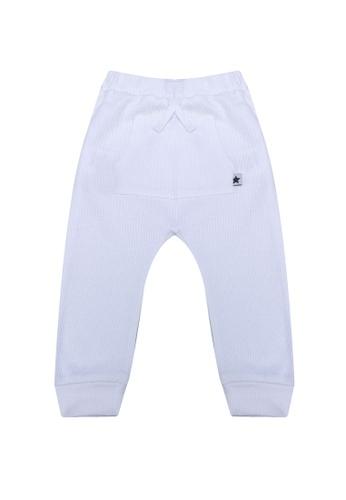 FOX Kids & Baby white Front Pocket Drawstring Knit Pants 3CDEEKA2BD9AA1GS_1