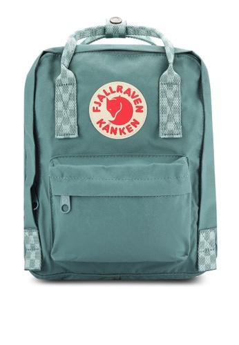 Fjallraven Kanken green Frost Green - Chess Pattern Kanken Mini Backpack FJ382AC0RH1OMY_1