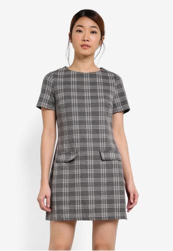 Dorothy Perkins grey Grey Check Tunic DO816AA0SF9LMY_1